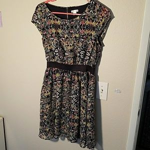 Xhilaration Floral Knee-Length Dress